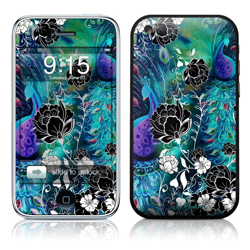 Peacock Garden iPhone 3GS Skin