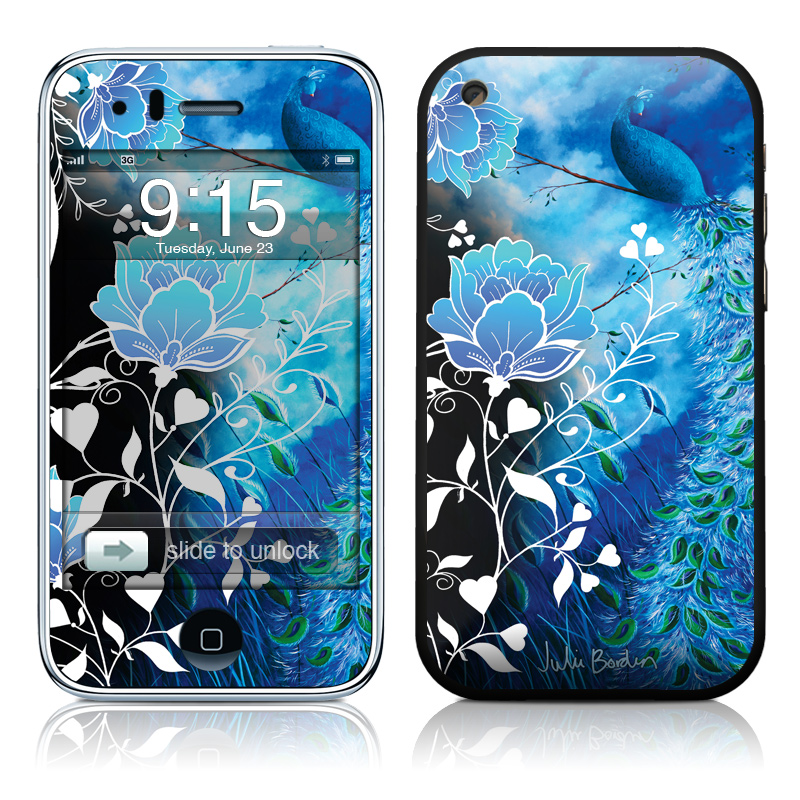 iPhone 3GS Skin design of Blue, Pattern, Graphic design, Design, Illustration, Organism, Visual arts, Graphics, Plant, Art with black, blue, gray, white colors