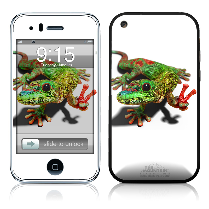 Peace Gecko iPhone 3GS Skin