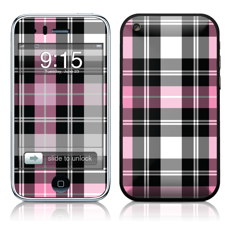Pink Plaid iPhone 3GS Skin