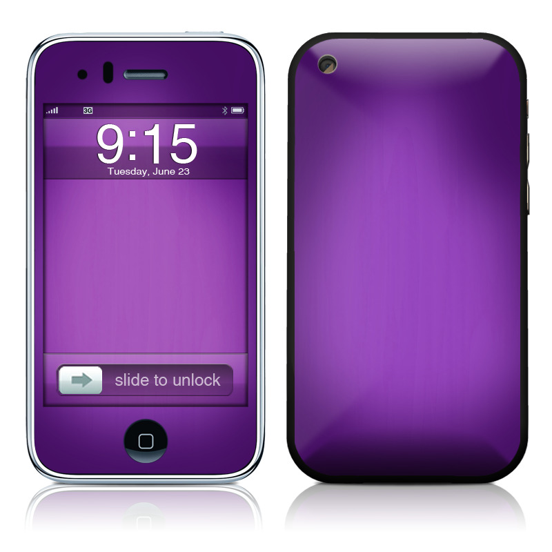 Purple Burst iPhone 3GS Skin
