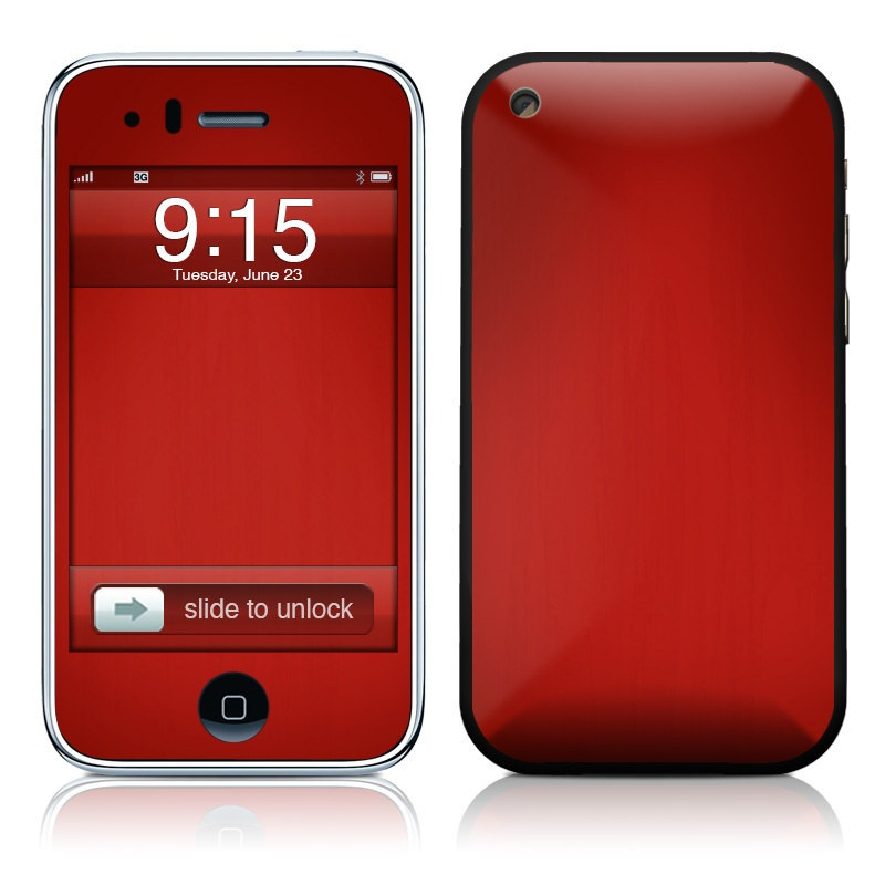 Red Burst iPhone 3GS Skin