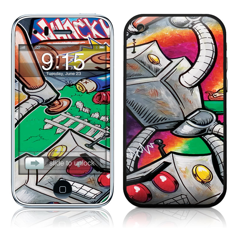 Robot Beatdown iPhone 3GS Skin