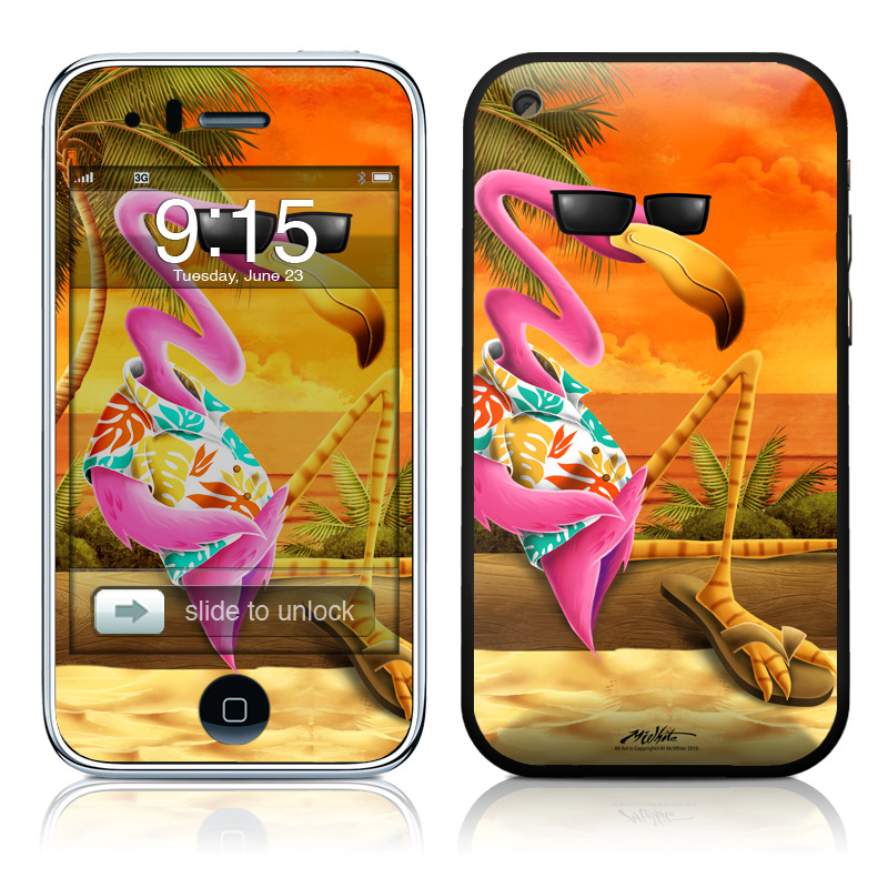 iPhone 3GS Skin design of Cartoon, Art, Animation, Illustration, Plant, Cg artwork, Shoe, Fictional character with red, orange, green, black, pink colors