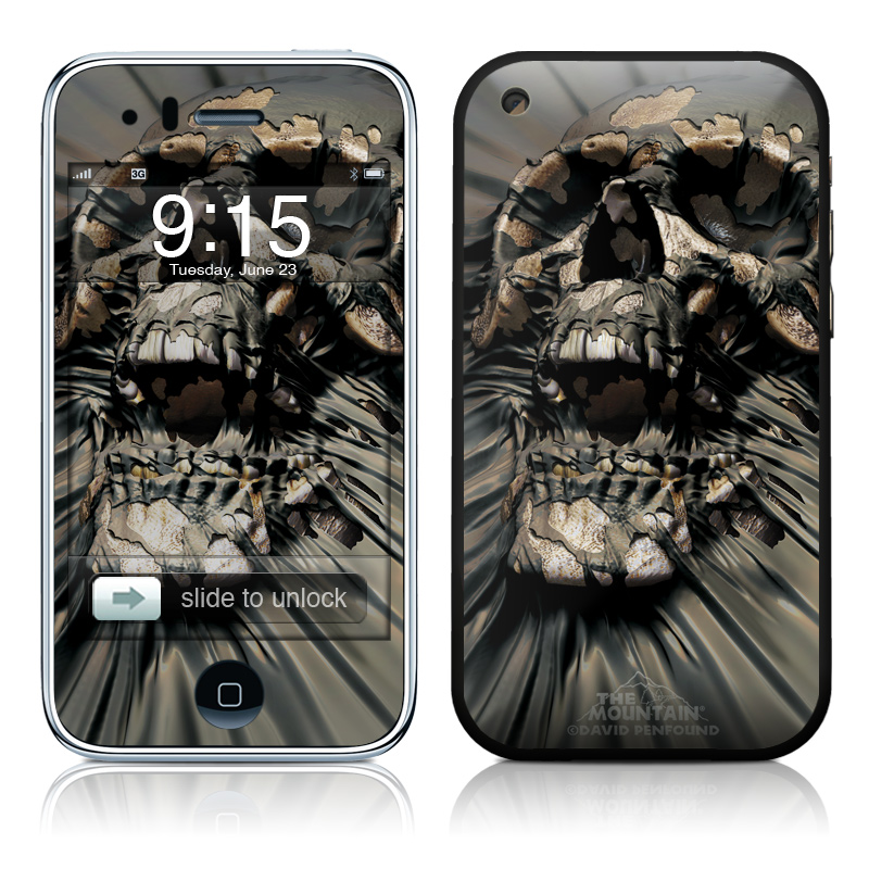 iPhone 3GS Skin design of Cg artwork, Fictional character, Illustration, Demon, Fiction, Supervillain, Mythology, Art with black, green, gray, red colors