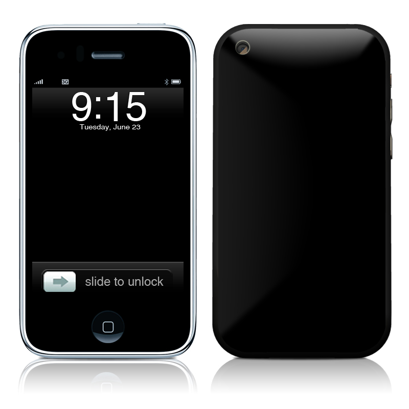 Solid State Black iPhone 3GS Skin