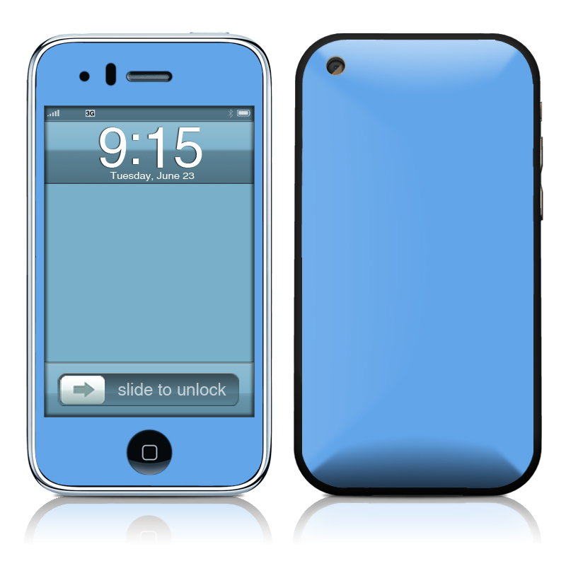 Solid State Blue iPhone 3GS Skin