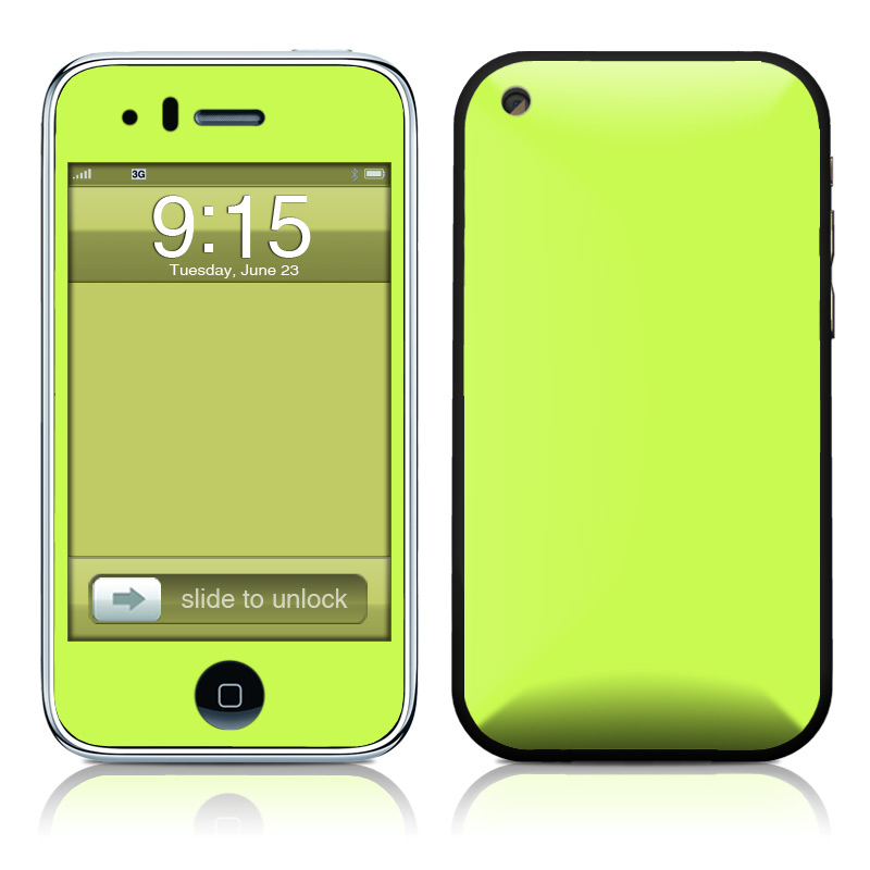 Solid State Lime iPhone 3GS Skin