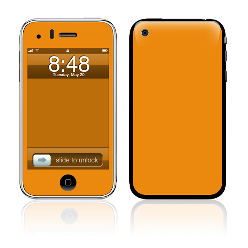 Solid State Orange iPhone 3GS Skin