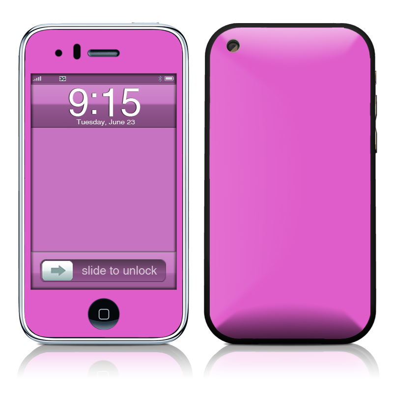 Solid State Vibrant Pink iPhone 3GS Skin