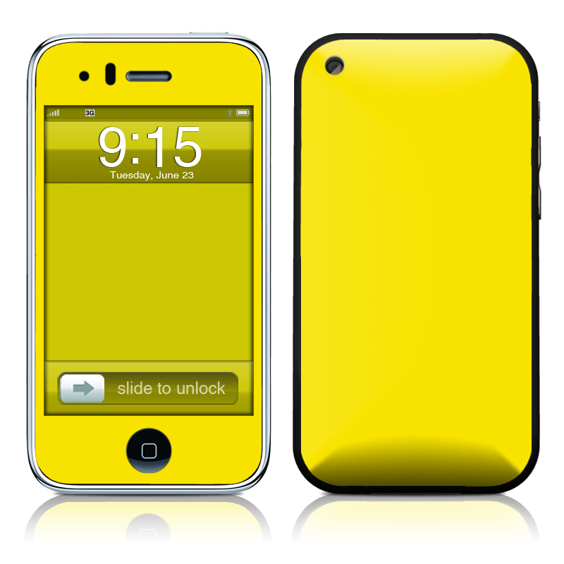 Solid State Yellow iPhone 3GS Skin