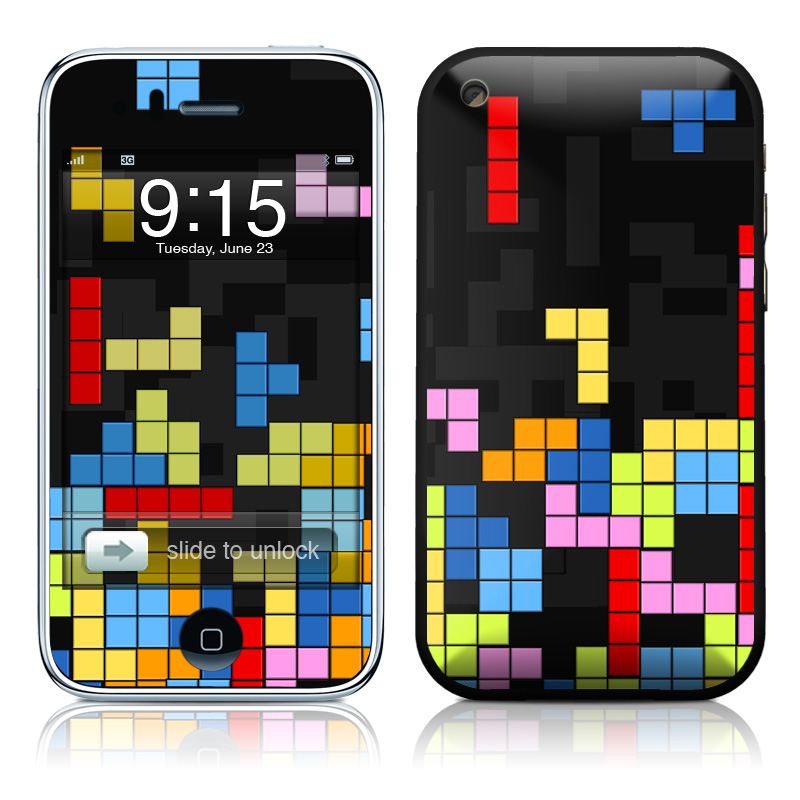 iPhone 3GS Skin design of Pattern, Symmetry, Font, Design, Graphic design, Line, Colorfulness, Magenta, Square, Graphics with black, green, blue, orange, red colors