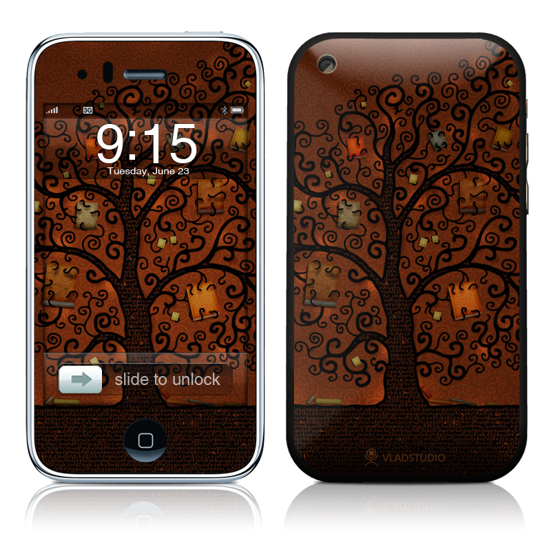 Tree Of Books iPhone 3GS Skin