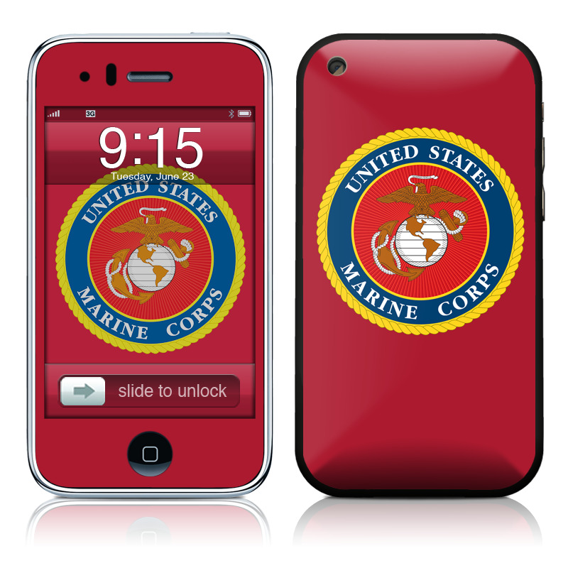 USMC Red iPhone 3GS Skin