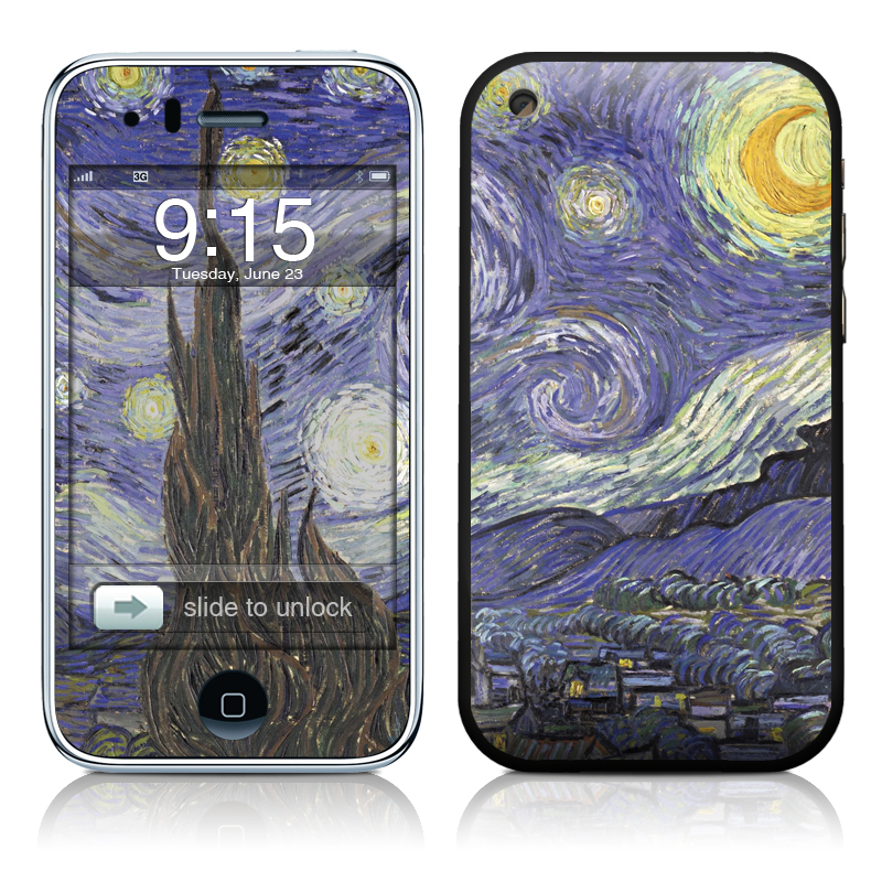 Van Gogh - Starry Night iPhone 3GS Skin