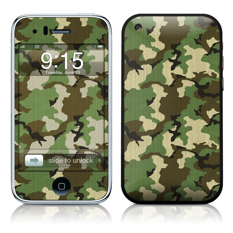 Woodland Camo iPhone 3GS Skin