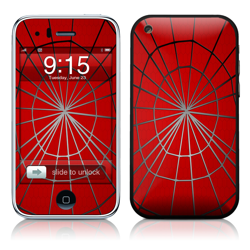 iPhone 3GS Skin design of Red, Symmetry, Circle, Pattern, Line with red, black, gray colors