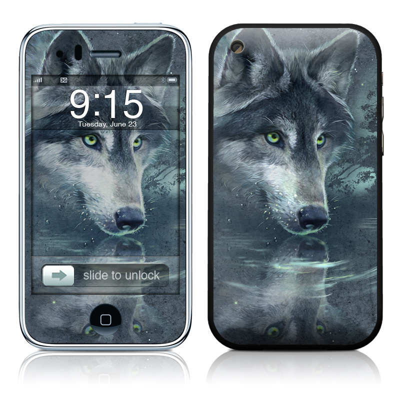 Wolf Reflection iPhone 3GS Skin