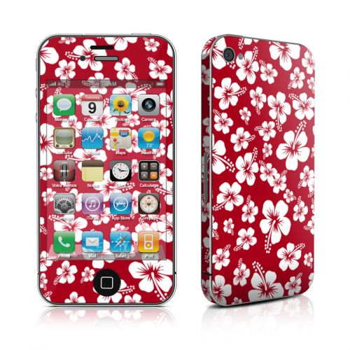 Aloha Red iPhone 4s Skin