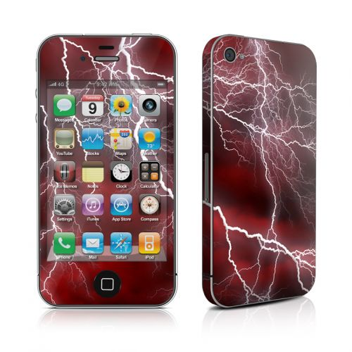 Apocalypse Red iPhone 4s Skin