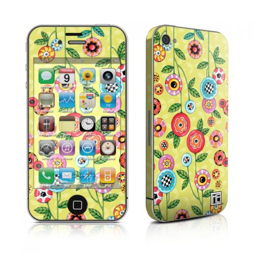 Button Flowers iPhone 4s Skin