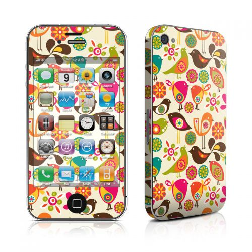 Bird Flowers iPhone 4s Skin
