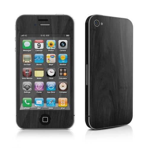 Black Woodgrain iPhone 4s Skin