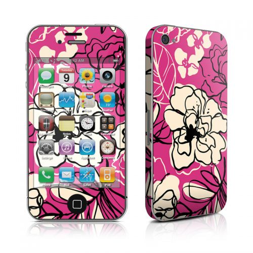 Black Lily iPhone 4s Skin