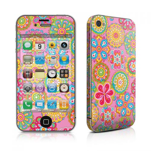 Bright Flowers iPhone 4s Skin
