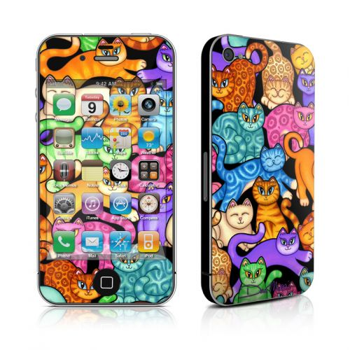 Colorful Kittens iPhone 4s Skin