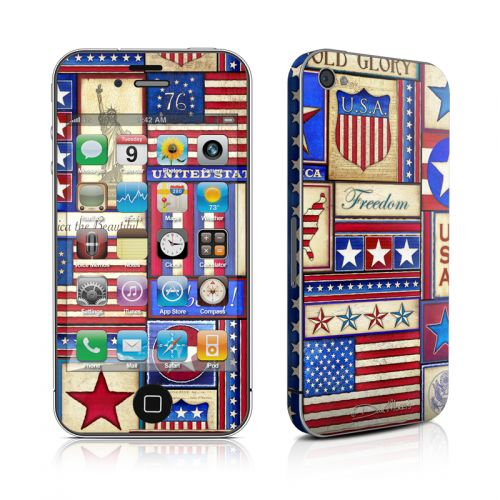 Flag Patchwork iPhone 4s Skin