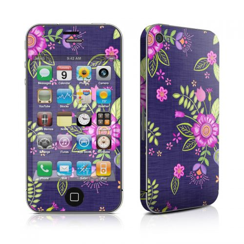 Folk Floral iPhone 4s Skin