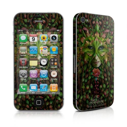 Green Woman iPhone 4s Skin