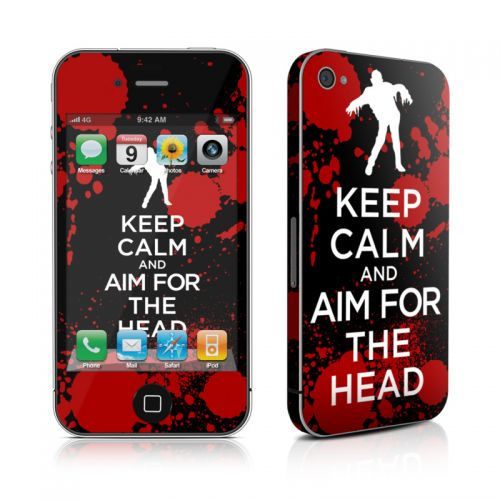 Keep Calm - Zombie iPhone 4s Skin