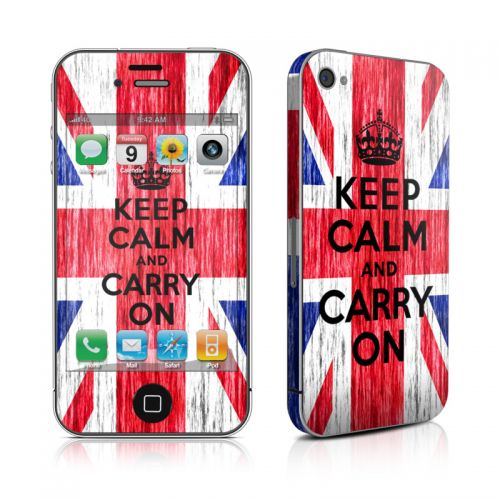 Keep Calm - Grunge iPhone 4s Skin
