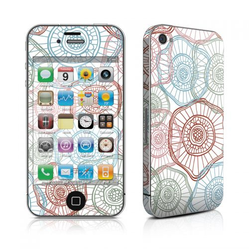 Micro Flowers iPhone 4s Skin