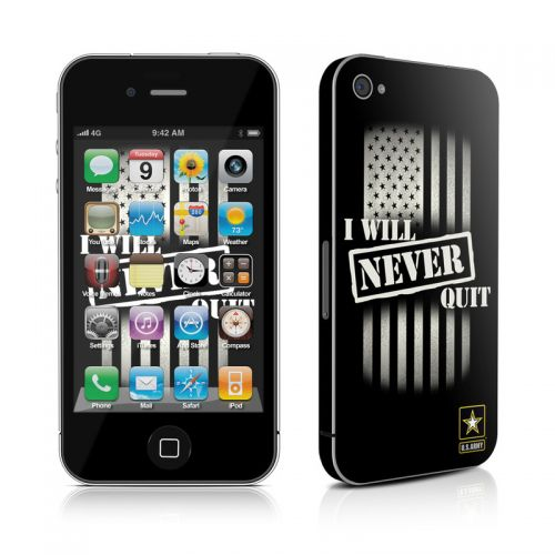 Never Quit iPhone 4s Skin