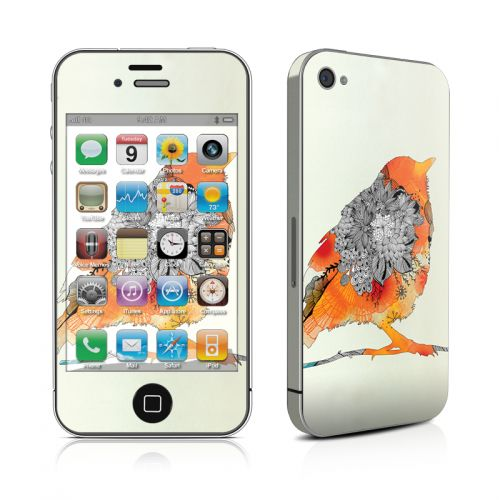 Orange Bird iPhone 4s Skin