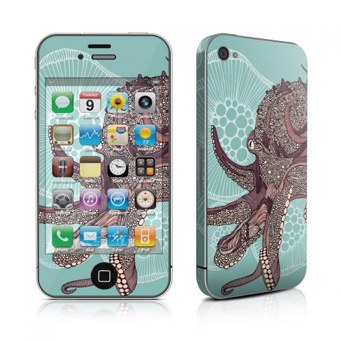Octopus Bloom iPhone 4s Skin