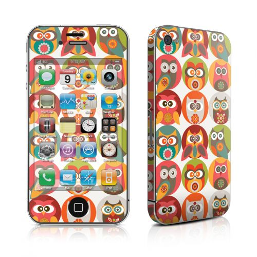 Owls Family iPhone 4s Skin