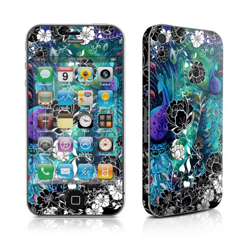 Peacock Garden iPhone 4s Skin