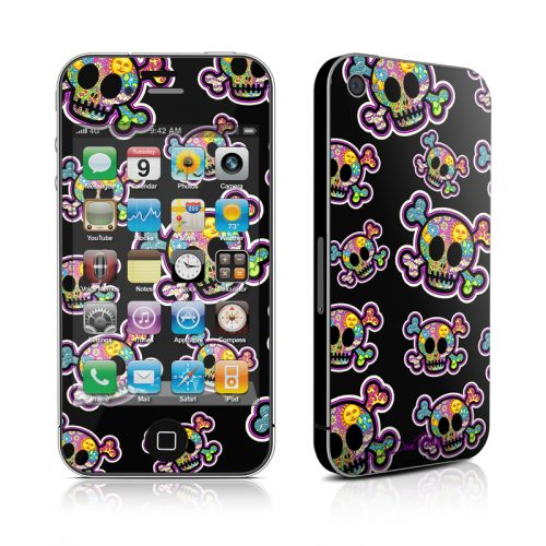 Peace Skulls iPhone 4s Skin