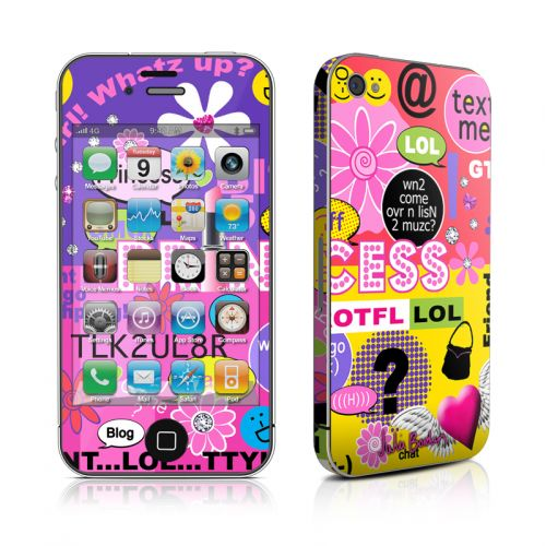 Princess Text Me iPhone 4s Skin