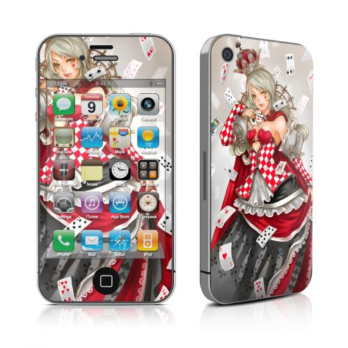 Queen Of Cards iPhone 4s Skin