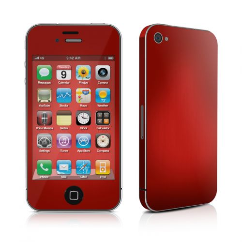 Red Burst iPhone 4s Skin