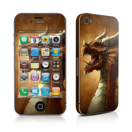 Red Dragon iPhone 4s Skin