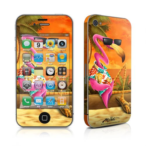 Sunset Flamingo iPhone 4s Skin