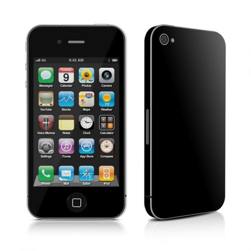 Solid State Black iPhone 4s Skin