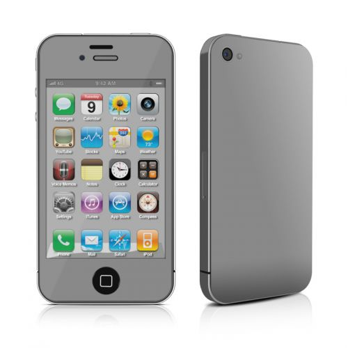 Solid State Grey iPhone 4s Skin