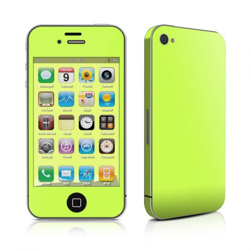 Solid State Lime iPhone 4s Skin